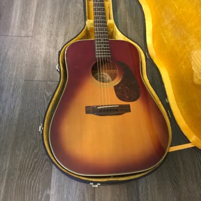 Goya  G312 TS 1970s Sun burst acoustic-electric ( Barcus - Berry beam transducer pick up ) guitar with original hard case in excellent condition for sale