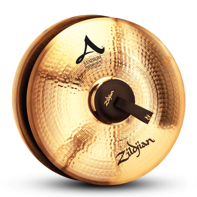 "Zildjian 19"" A Stadium Medium Heavy Marching Cymbals (Pair)"
