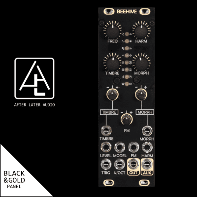 After Later Audio Beehive (uPlaits) Clone - Black/Gold