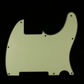 Replacement Tele Esquire Style Guitar pickguard ,3ply Vintage mint green