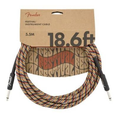 Fender Festival Straight / Straight TS Instrument Cable - 18.6'