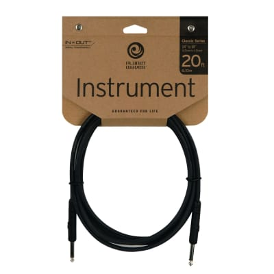 "Planet Waves PW-CGT-20 Classic Series 1/4"" TS Straight Instrument Cable - 20'"
