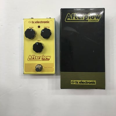 TC Electronic Afterglow Analog Chorus True Bypass Guitar Effect Pedal + Box