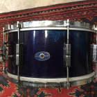 "Leedy  Snare Drum 6 1/2 x 14"" Wood Blue Sparkle   1940's image"