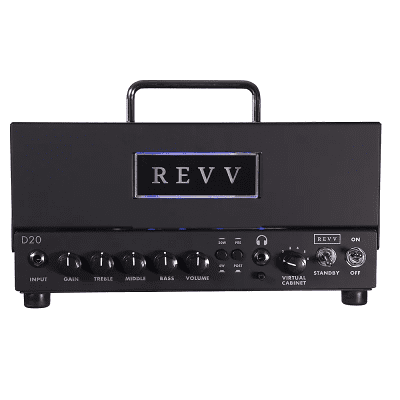 REVV D20 20-Watt Guitar Amp Head with Two Notes Torpedo-Embedded Reactive Load & Virtual Cabinets