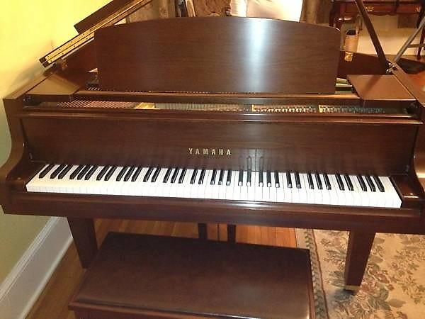 Yamaha gh1 baby grand piano walnut satin reverb for Yamaha baby grand piano used
