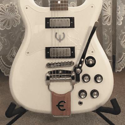 Epiphone Crestwood Custom Tremotone 2020 Polaris White w/ Seymore Duncan Antiquity II Pickups for sale