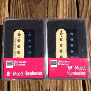 Seymour Duncan SH-4 JB SH-1N 59 Model ZEBRA 4 Conductor Humbucker Pickup Set