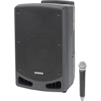 Samson Expedition XP312w-D 300-Watt Portable PA System with Wireless Microphone (D-Band: 542-566 MHz)