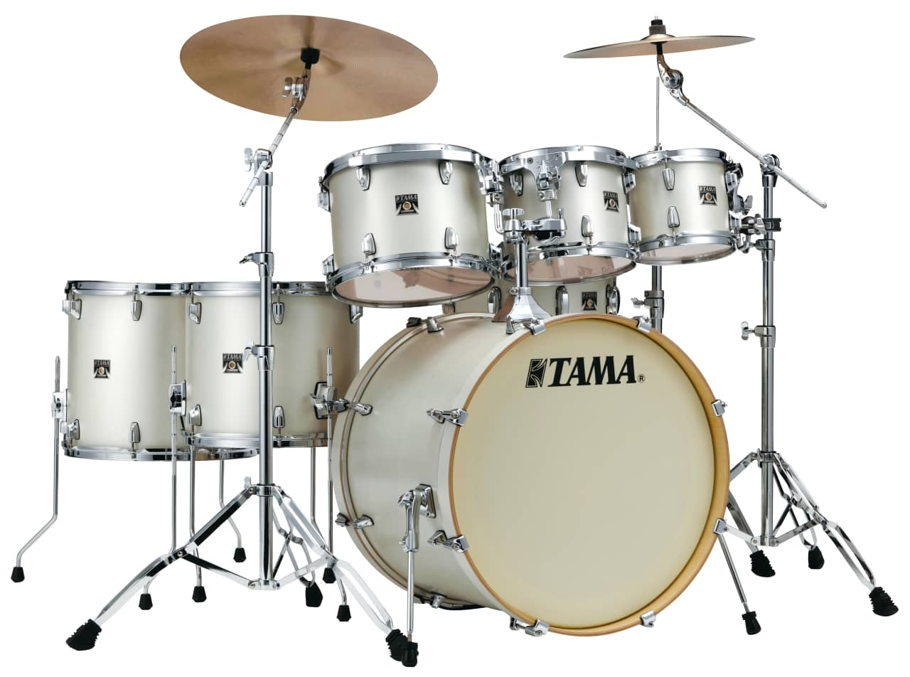 Tama drums sets superstar classic maple satin arctic pearl for Classic house drums