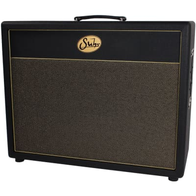 Suhr 2x12 Deep Speaker Cabinet, Gold Grill, Creambacks for sale