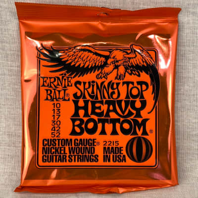 Ernie Ball 2215 Skinny Top Heavy Bottom Electric Guitar Strings, .010 - .052