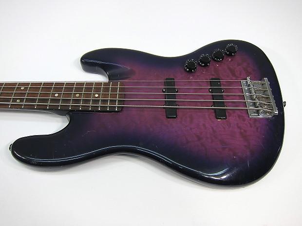 early new york esp custom shop m v 5 string jazz bass purple reverb. Black Bedroom Furniture Sets. Home Design Ideas