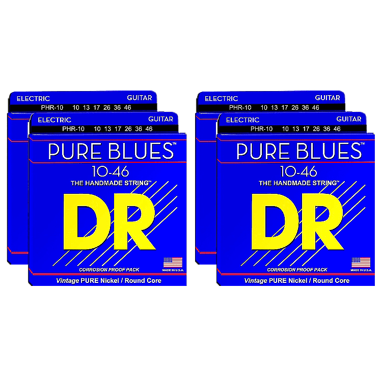 dr phr 10 pure blues electric guitar strings 10 46 4 sets reverb. Black Bedroom Furniture Sets. Home Design Ideas