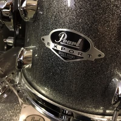 NEW DEMO Pearl Export Full Drum Kit EXX725SC708-RSG1 Grindstone Sparkle w/Hardware, Cymbals & Throne