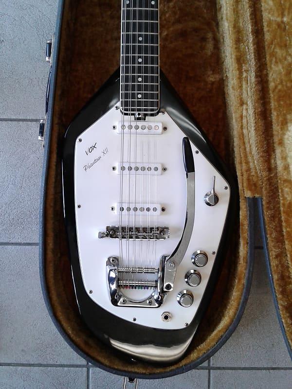 vox phantom xii black 12 string guitar vintage and rare w reverb. Black Bedroom Furniture Sets. Home Design Ideas