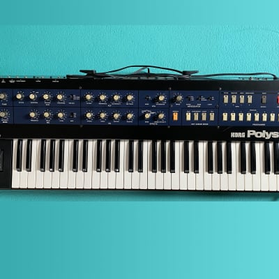 Korg PolySix ModyPoly MIDI excellent working condition + input to effect, Serviced  !