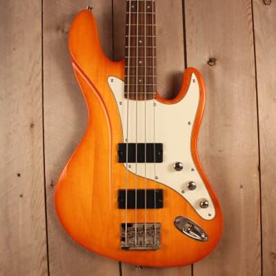 Dean Zelinsky Mule Bass 4-String 2016 Orange  with gig bag for sale