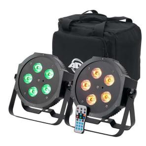 American DJ MEG134 Mega 64 Hex Pak (2x) Lights w/ Case