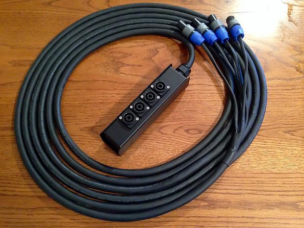 speakon speaker snake 8 conductor 4 channel nl2 neutrik with reverb. Black Bedroom Furniture Sets. Home Design Ideas