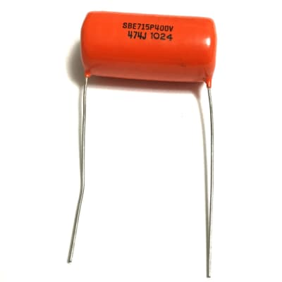 "Orange Drop Capacitor SBE715P - .47uF 400V  - 1-1/2"" x 3/4"""