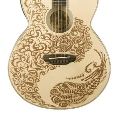 Luna Henna Paradise Select Spruce Acoustic Electric Guitar-Free Shipping! for sale