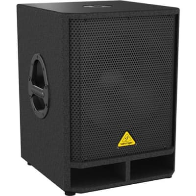 Behringer Eurolive VQ1500D High-Performance Active 500-Watt 15  PA Subwoofer with Built-in Stereo Crossover, 65Hz-150Hz Frequency Response