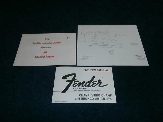 Fender Champ Schematic on