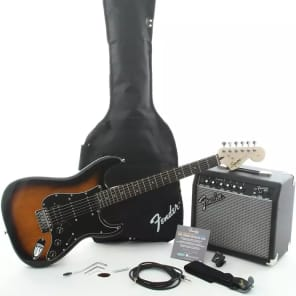 """Squier """"Stop Dreaming, Start Playing!"""" Affinity HSS Stratocaster w/ Frontman 15G Amp Pack"""