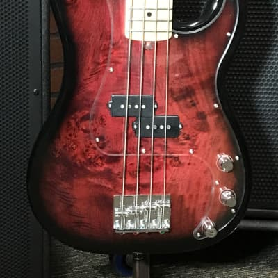 Form Factor Audio FMPB4 short P bass burl Maple top for sale