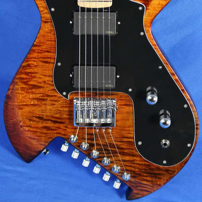 Gimenez Saint 624B Flamed Maple Electric Guitar EMG Schaller w/OHSC for sale