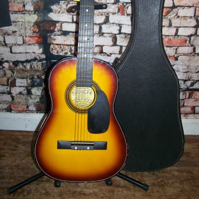 Global Vintage Parlor Guitar 1960s Sunburst for sale