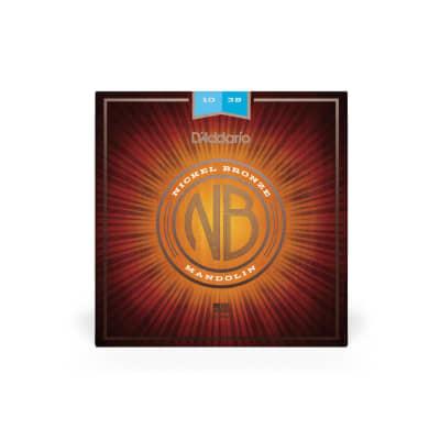 D'Addario NBM1038 Nickel Bronze 10-38 Light Mandolin Strings 5 Sets