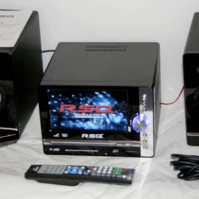 "RSQ P-300 Complete Multi-Format Hi-Fi Karaoke System 7"" LCD Screen Rip & Recording CD USB SD w/Mic"