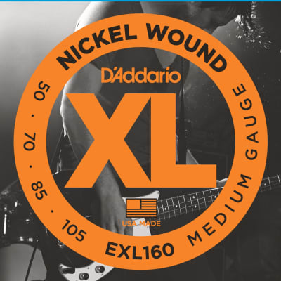 D'Addario EXL160 Nickel Wound Medium Bass Guitar Strings 50-105 Long Scale