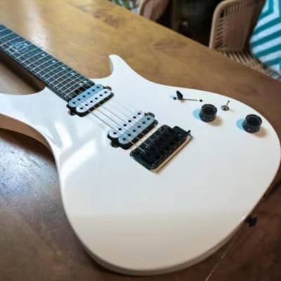J&D Guitars DX-100E Snow white HH With Vibrato ,Roasted Maple Neck 2021s for sale