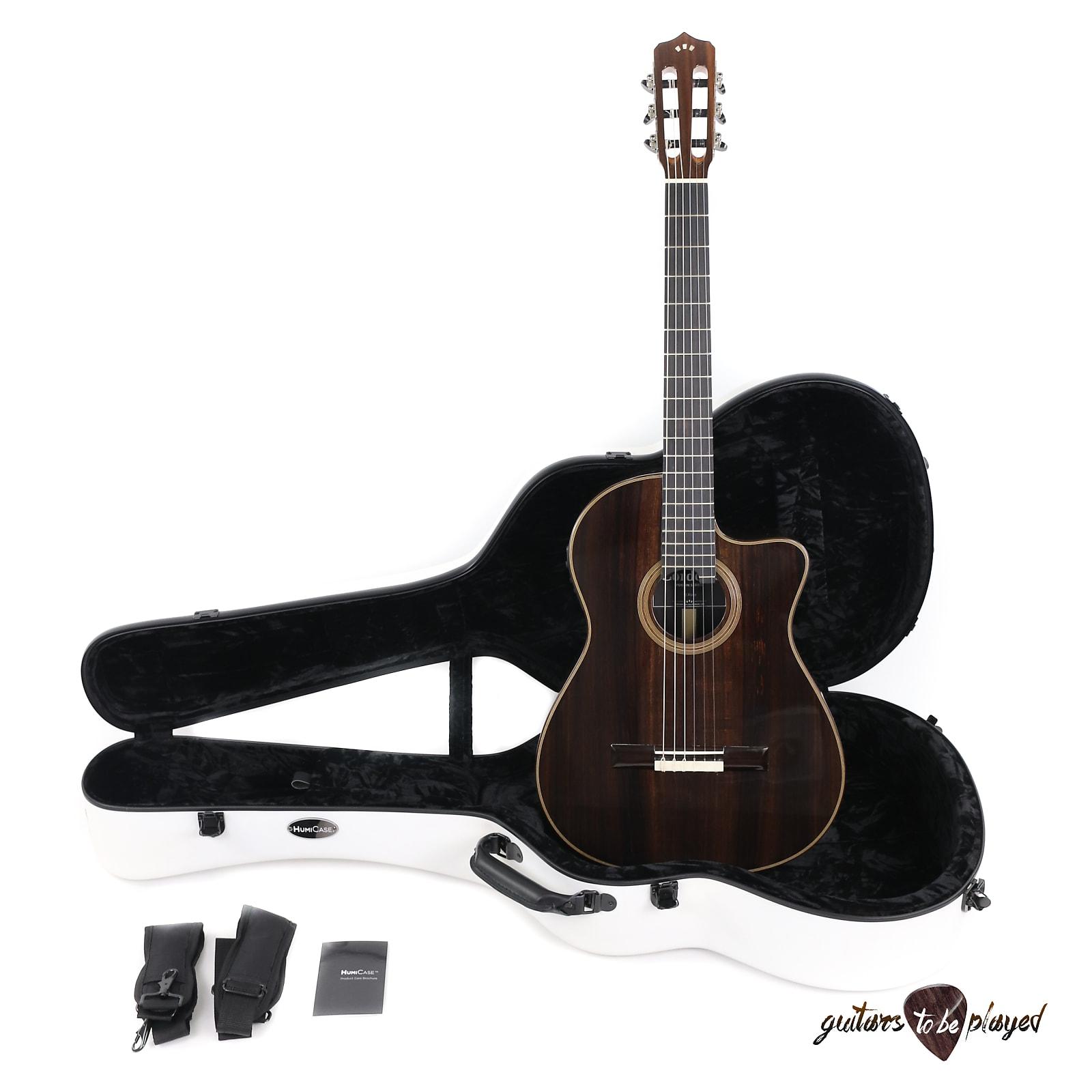 cdd992bc77 Cordoba Fusion 12 Rose Acoustic/Electric Nylon String Guitar w/ HumiCase
