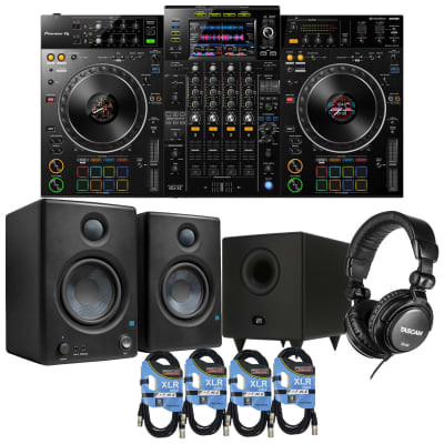 Pioneer DJ XDJ-XZ Digital DJ System, Presonus Eris4.5 Monitors, Presonus T8 Sub, Tascam TH02, (4) 1/4 Cables Bundle
