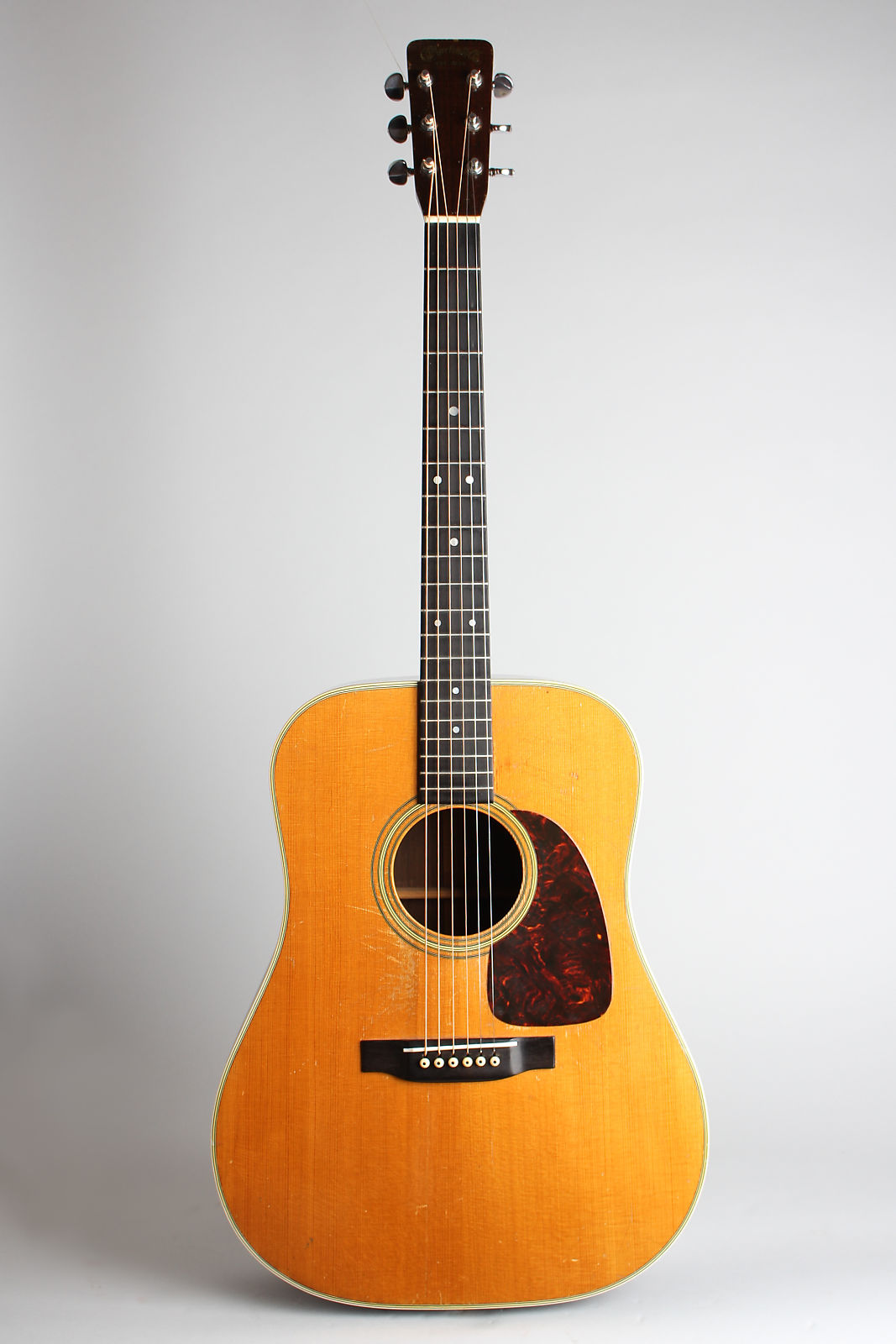 C. F. Martin  D-28 Flat Top Acoustic Guitar (1959), ser. #170569, molded plastic hard shell case.