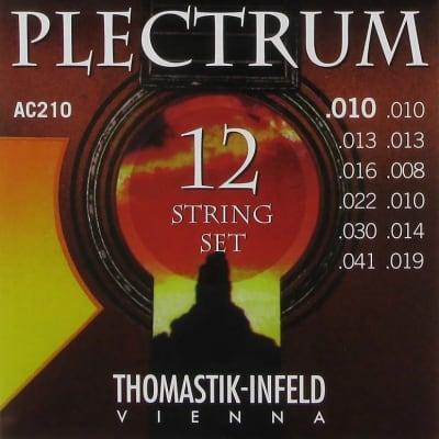 Thomastik-Infeld AC210 Plectrum 12-String Plain Steel Acoustic Guitar Strings - Extra Light (.08 - .41)