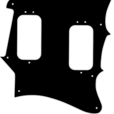 WD Custom Pickguard For Fender 2012-2013 Made In Mexico Pawn Shop Super-Sonic #29T Matte Black Thin