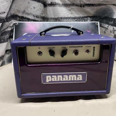 Panama Guitars Conqueror 5W Tube Guitar Amplifier Head Purple for sale