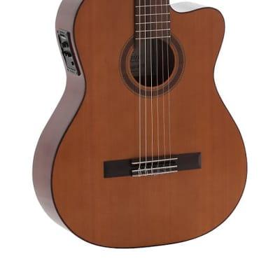 Admira MALAGA-ECF Electrified Series Cutaway Cedar Top 6-String Classical Acoustic-Electric Guitar