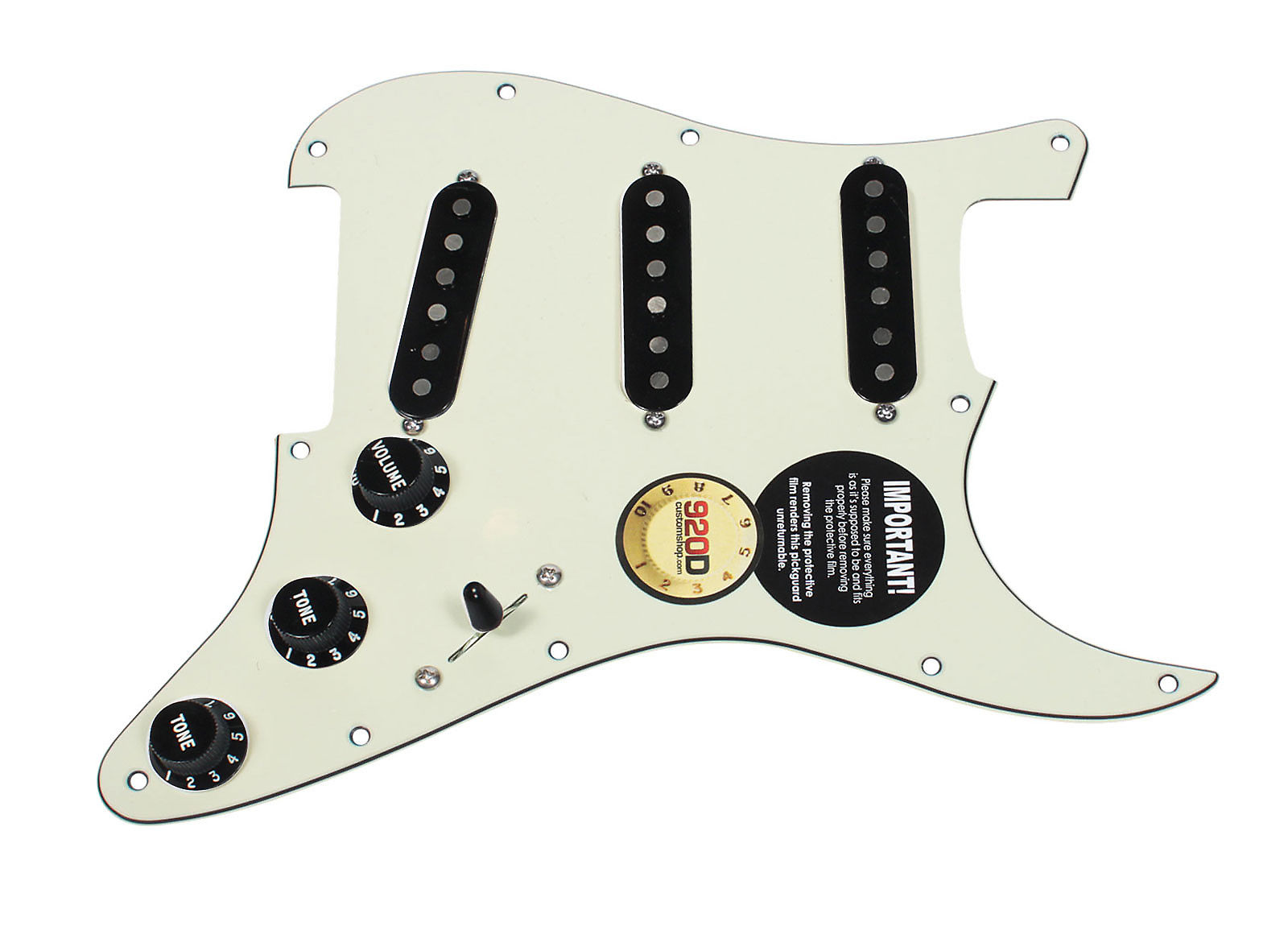 Fender Tex-Mex 920D Custom Loaded Pre-wired Strat Pickguard BK//BK