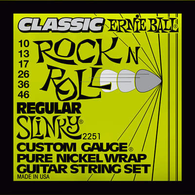 Ernie ball Classic Pure Nickel Guitar Stings Slinky Regular 10 - 46 for sale
