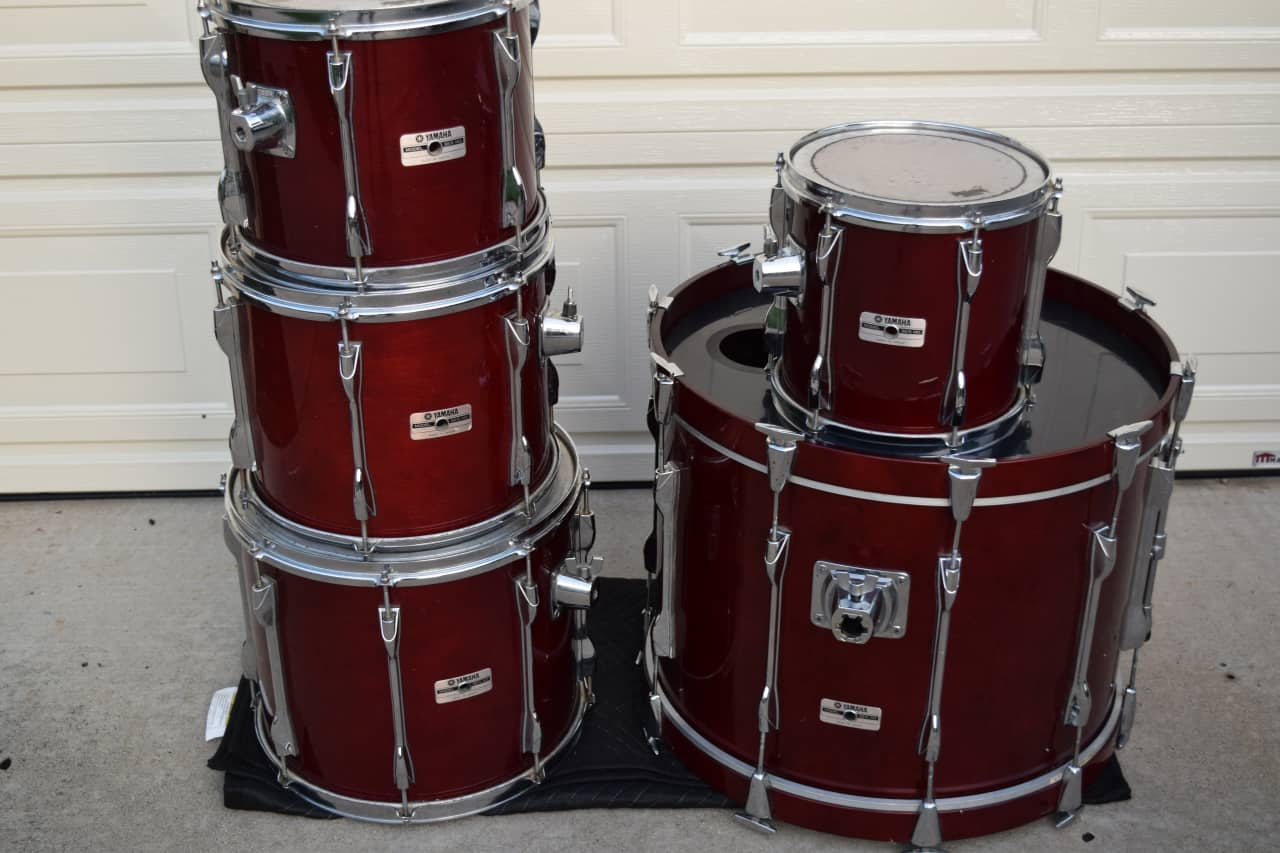 yamaha recording custom birch shell drum set kit reverb. Black Bedroom Furniture Sets. Home Design Ideas