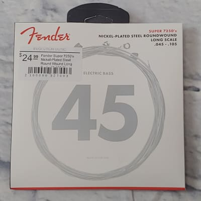 Fender Super 7250's Nickel-Plated Steel Round Wound Long Scale 45-105 Electric Bass Strings