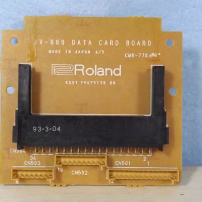 Roland JV-880 parts - DATA cartridge board