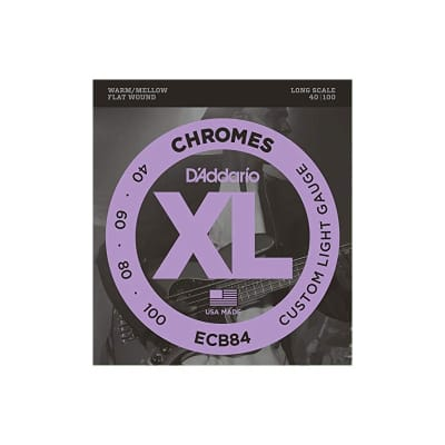 D´Addario Chromes ECB84 Flatwound Bass Strings 40-100