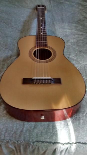 vintage harmony stella acoustic folk parlor guitar nylon reverb. Black Bedroom Furniture Sets. Home Design Ideas